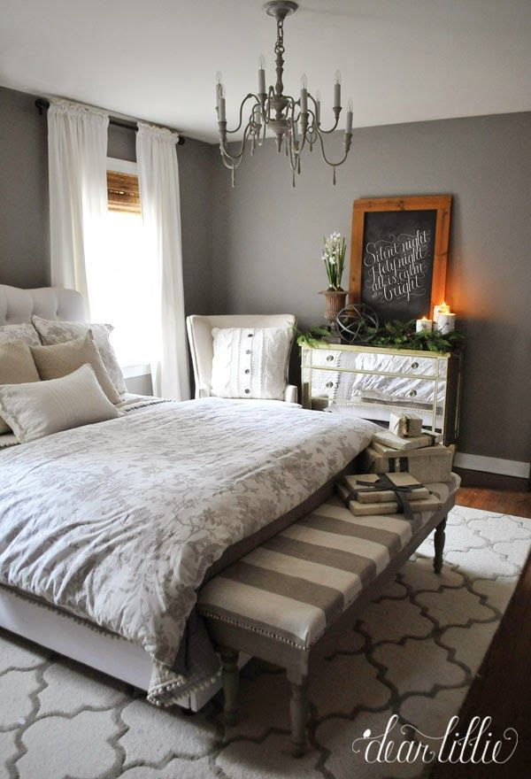 guest bedroom colors 2014. holiday housewalk 2014 by dear lillie - love the matchstick blind with gray guest bedroom colors