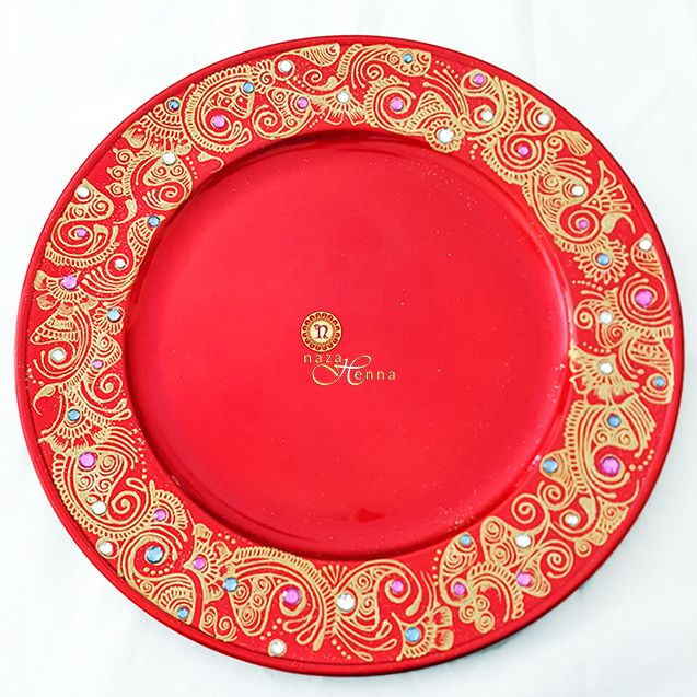 nazaHenna custom keepsakes and intricately crafted gifts. #charger #server #plate #serving #platter #nazahenna