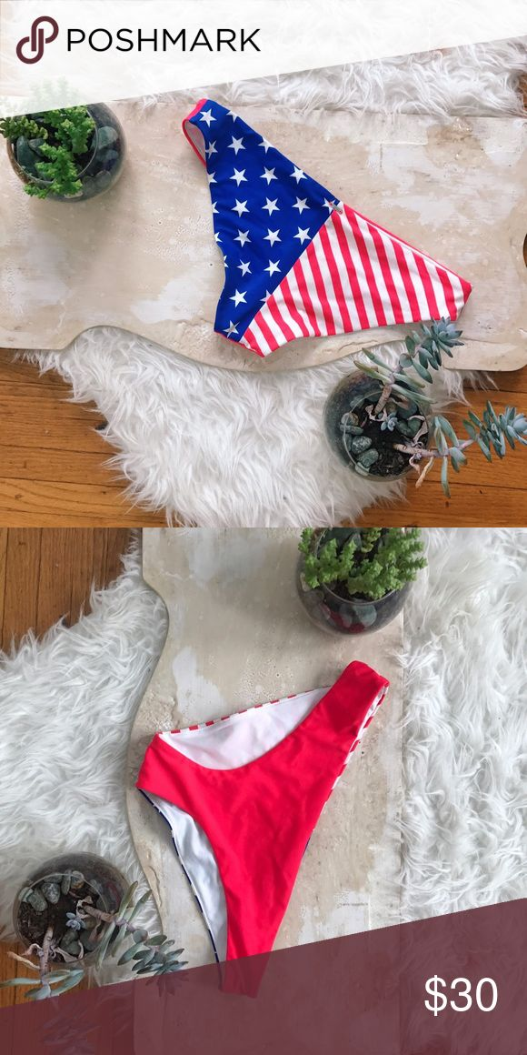 American red, white & blue VS bikini bottom These have been worn once but I have way too many bikinis and need to downsize, you will love these!! Victoria secret PINK swim bottoms PINK Victoria's Secret Swim Bikinis