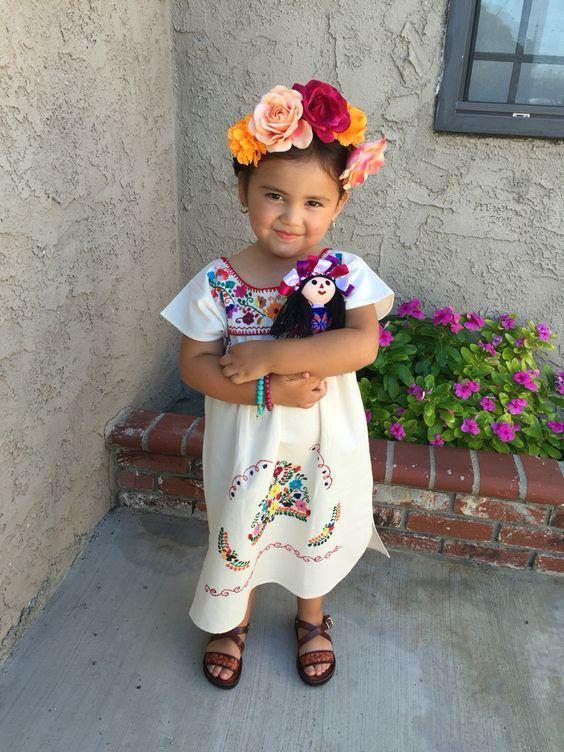 Vestidos de noche mexicana para nina