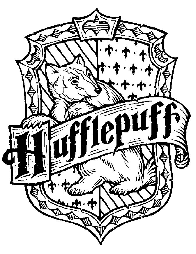 harry potter crests Colouring Pages
