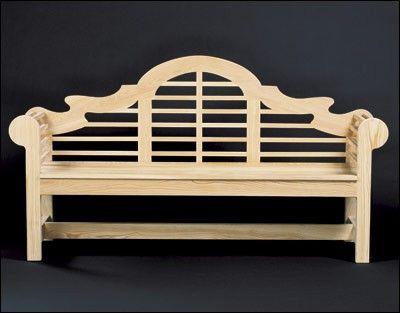 Lutyens Garden Bench Project Plan beautiful detail