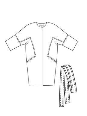 Пальто О-силуэта с цельнокроеными рукавами