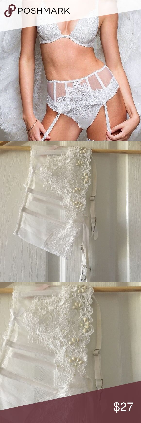 Victoria's Secret White Garter Belt Brand New ! Fun & Sexy for anytime of year. Size fits both xs and small 💞 Bundle and Save Victoria's Secret Intimates & Sleepwear Chemises & Slips