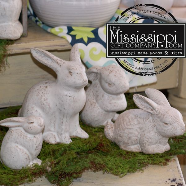 290 best best selling gifts images on pinterest mississippi decorate your home for easter with peters pottery bunnies themississippigiftcompany negle Image collections