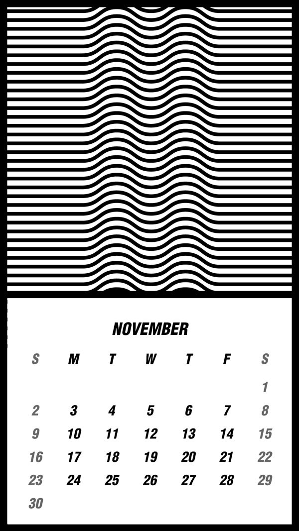 Illusion, calendar, 2014 by Kwan