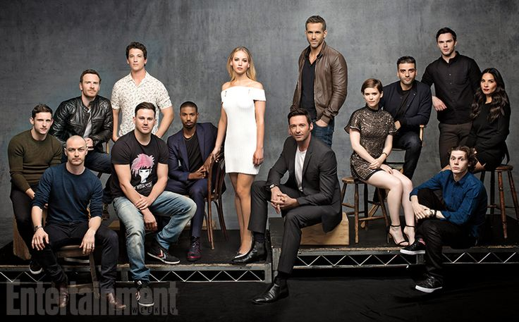X-Men, Deadpool, Fantastic Four, Gambit, and Wolverine casts get together for photo