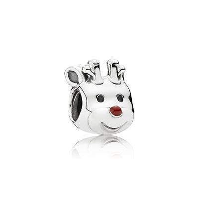 A tribute to the classic tale of Rudolph, the Red-Nosed Reindeer, this whimsical cake pop-inspired charm embodies the spirit of the season. The silver version of the popular reindeer figure is sure to put you in the Christmas mood. #PANDORA #PANDORAcharm