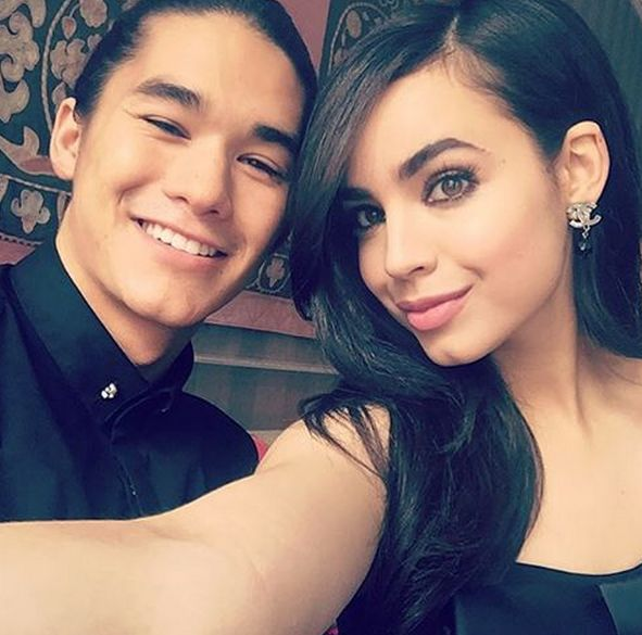 Sofia Carson and Booboo Stewart for Press Day in Amsterdam #friendship #broOTP #my little cinnamon roll babies!