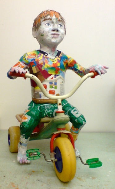 Love this! Life size recycled sculpture