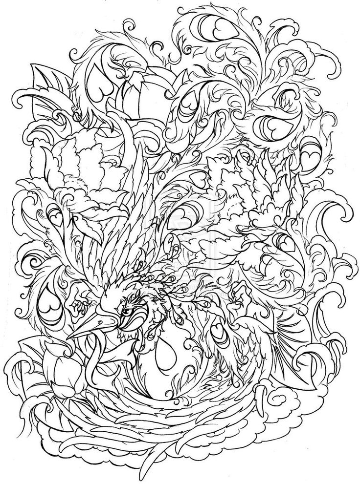 Phoenix With Flowers By Metacharis On DeviantART
