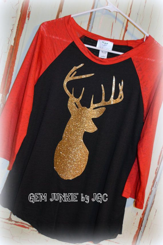 Gold Deer Head Burnout T-shirt  via Gem Junkie by JGC https://www.etsy.com/listing/248383966/stunning-deer-head-burnout-t-shirt?ref=shop_home_feat_2