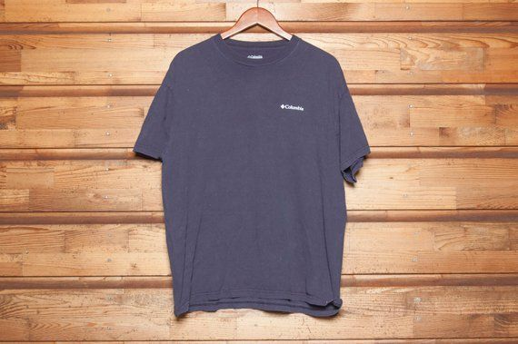 0ff42430499 Columbia Sportswear - Navy T-Shirt - American Outdoors - Vintage Short  Sleeve Tee -