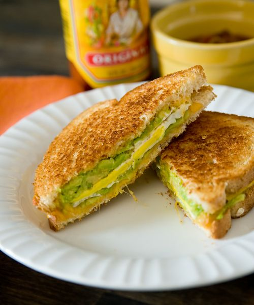 Grilled Cheese, Avocado, and Fried Egg Sandwich