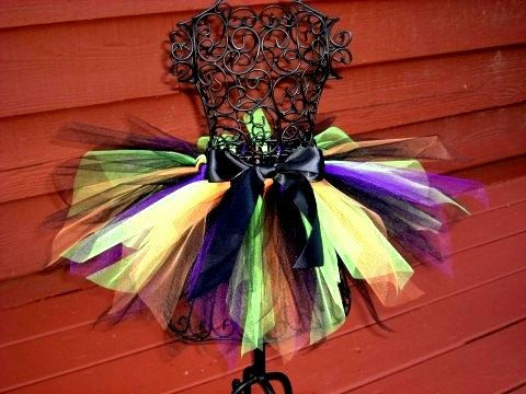 Girls Witch Tutu costume on Etsy by TheSugaredRibbon, $21.50 - Could make for cute twist on witches costume.