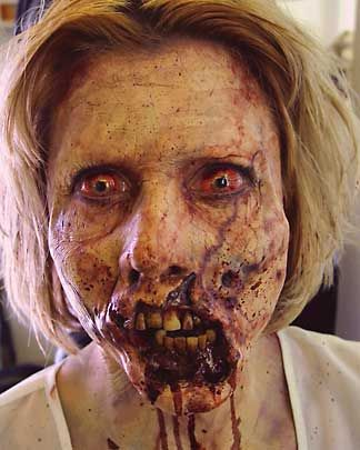 Zombie makeup-super scary even in a picture