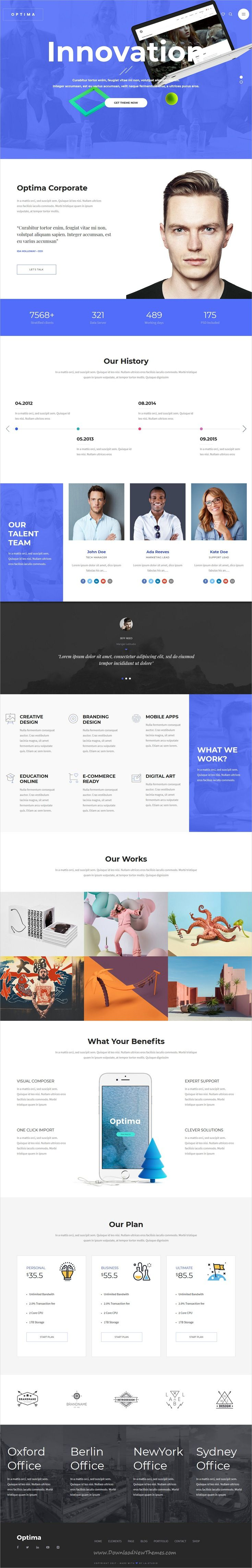 Optemia clean and modern design responsive multipurpose WordPress theme with 25+ homepage layouts Unlimited downloads of 340K inspiring and ready-to-use photos, Premium WordPress themes, Plugins, templates, fonts and assets; subscribe for a single monthly