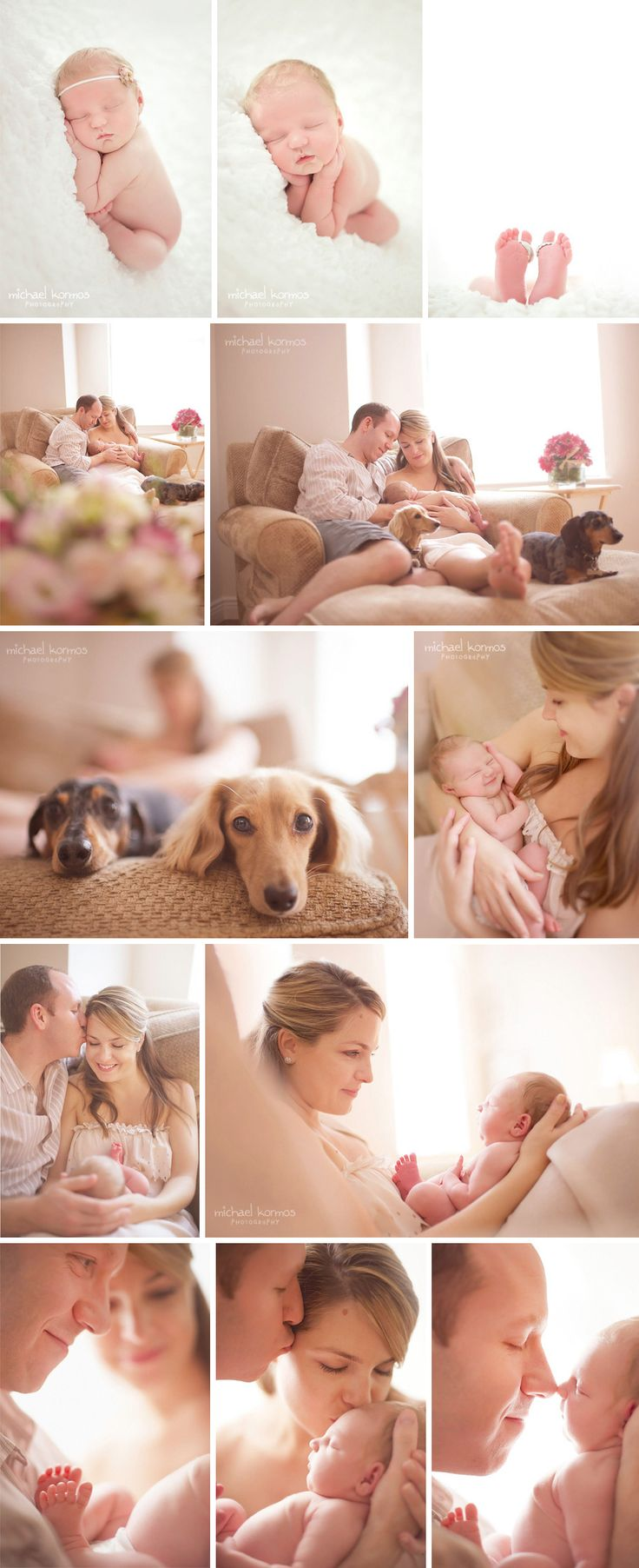 I love the fact that the weenies were a part of this shoot. All things are better with a weenie dog or 5 :)