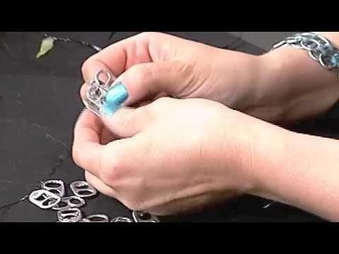 Ep. 17: Making a Soda Tab Bracelet - running stitch