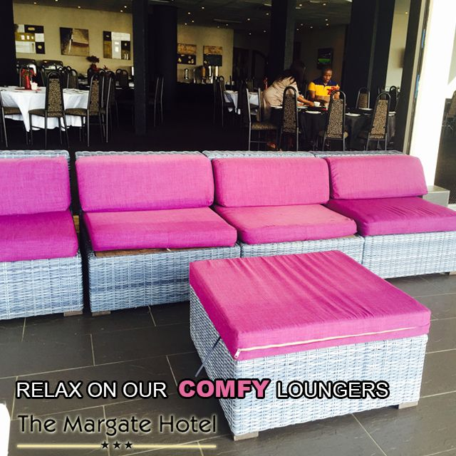 You have got to try these amazing pink loungers at Margate Hotel. They are perfect for enjoying a sunrise...