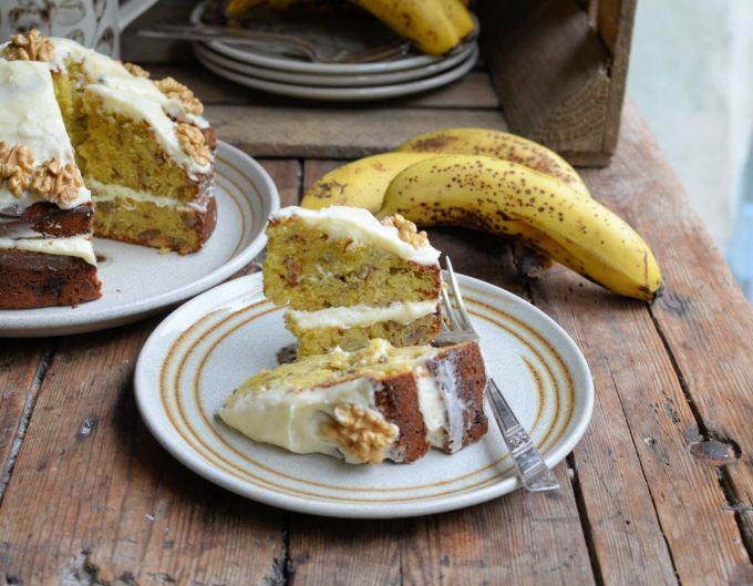 Lavender and Lovage | Going Bananas: Banana Bread Cake with Buttercream | https://www.lavenderandlovage.com
