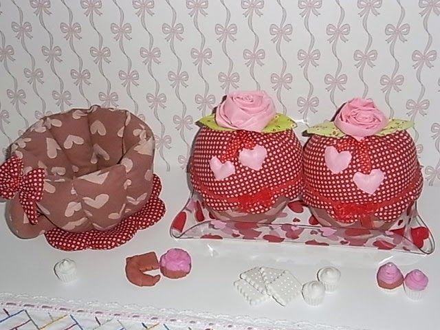 """LA VIE EN ROSE: Cupcakes fermalibri e tazza porta cioccolatini """"Ca..."""