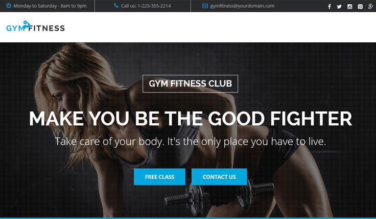 Gym Fitness: best landing page template for sports and workout | oLanding