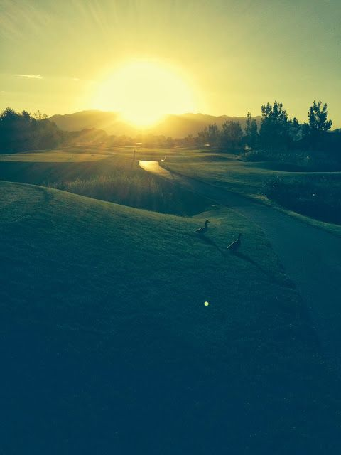 Amazing Sunrise at Glen Eagle Golf Course in Utah