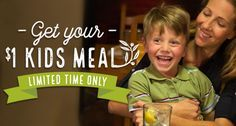 Print a coupon here for a $1 Kid's Meal at Olive Garden when you purchase an adult entree!