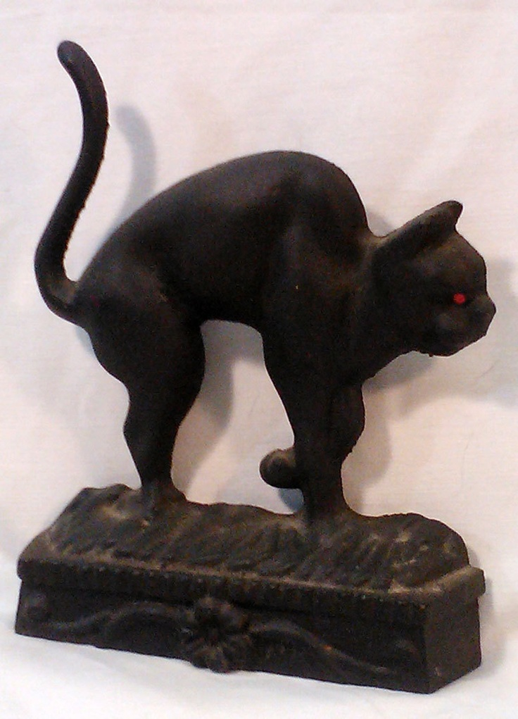 Vintage Arched Back Black Cat Cast Iron Door Stop - 698 Best Antique Door Stops Images On Pinterest Doorstop, Door