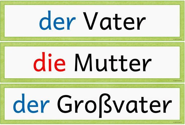 """Ideenreise: Wortkarten zum Thema """"Familie"""" für DAZ"""