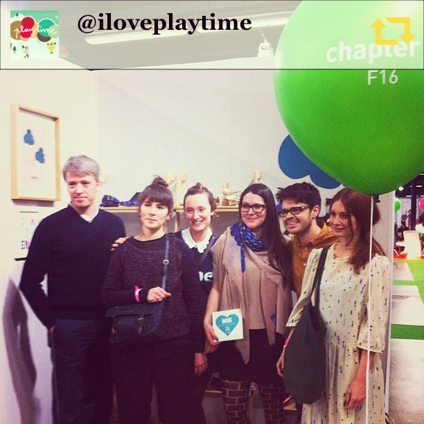 Chapter 2 at Playtime Paris AW14. With the MilK Magazine team.