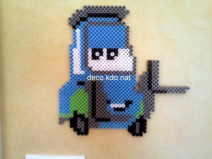 Guido Cars Pixar hama beads by decokdonat
