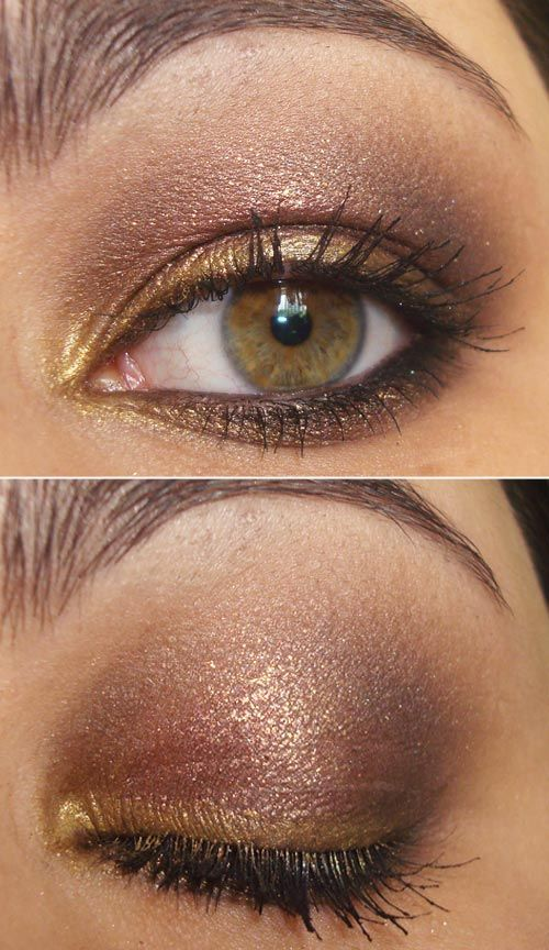 The lighter color on the lash line and corner of the eye opens it up as opposed to darker colors which make your eyes look smaller