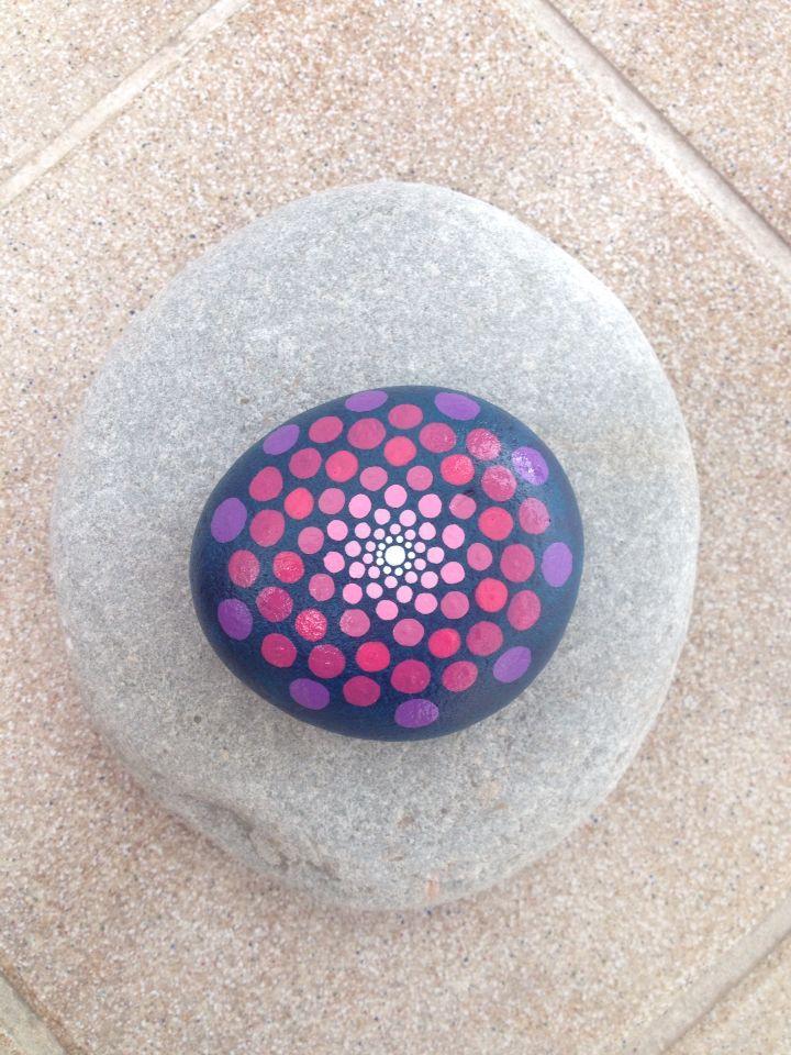 painted stone dots mandala