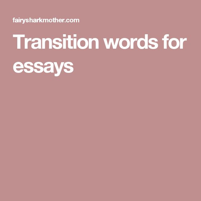 Ending transition words for essays