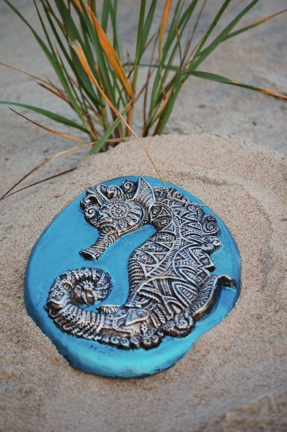 Beach Decor Seahorse Sculpture Beach Themed Bathroom Wall Art