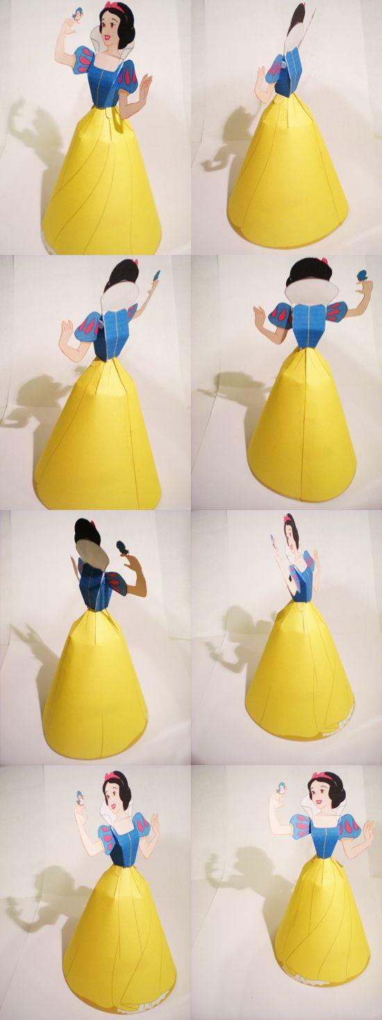 Disney Princesses - Disney Princess 3D Paper Dolls