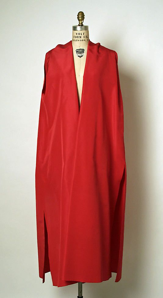 Evening Coat, Cristobal Balenciaga (Spanish, 1895–1972) for the House of Balenciaga (French, founded 1937): 1958-1965, French, silk.