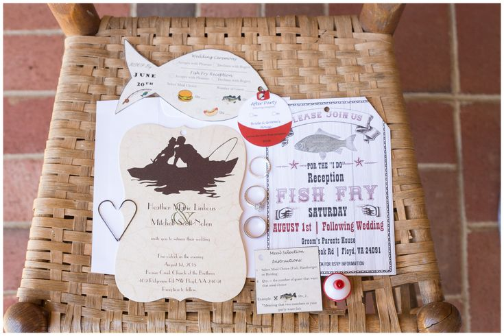 Fish themed wedding invitation. Fish shaped wedding invite ...