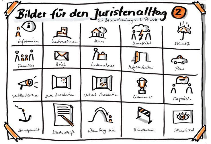 Bilder für den Juristenalltag - Brainstorming