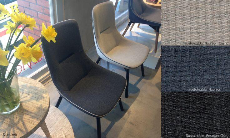 Sustainable Reunion on Stylecraft Risk chair #SLF, #sustainablelivinfabrics, #stylecraft,