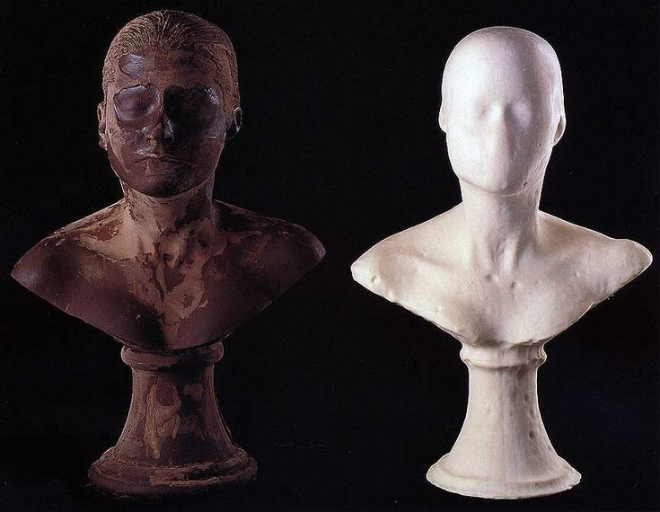 """Janine Antoni, """"Lick and Lather,"""" detail, 1993. 7 soap and 7 chocolate…"""