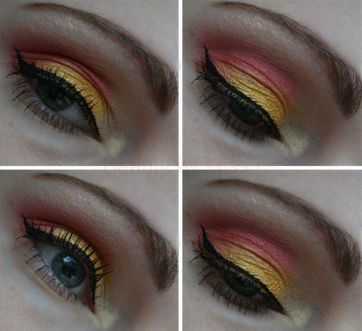 pink gelb lidschatten grundierung eyeliner schwarz-sommer-augen