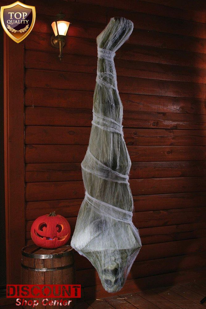 Halloween Home Decoration Hanging Cocoon Corpse 72 inch Scary Spooky Outdoor New #HalloweenHomeDecoration