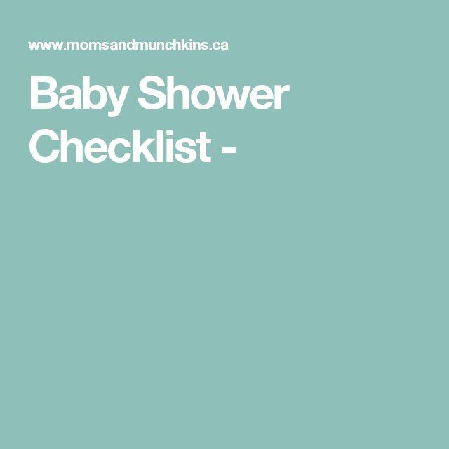 Baby Shower Checklist -