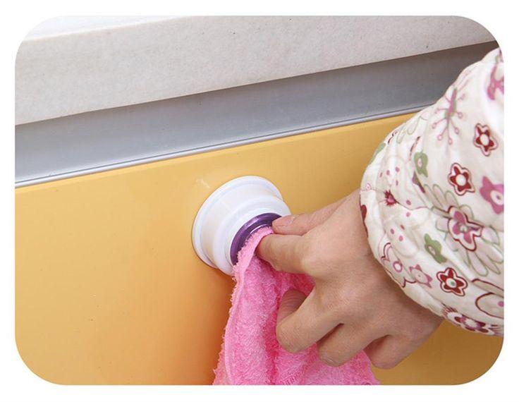 2015 Nuovo Asciugamano Holder Clip Clip di Mano di Stoccaggio Rack Di Stoccaggio Bagno Cucina Towel Rack