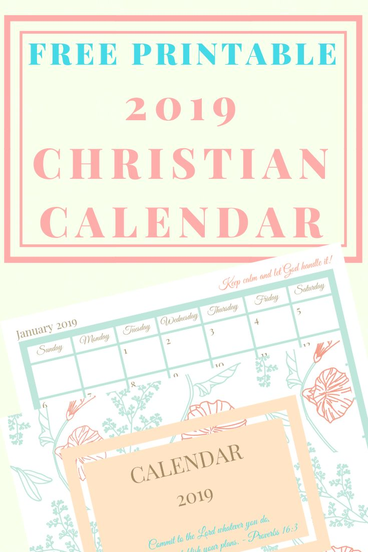Free Printable For 12 Months Of Pre Planned Date Nights: Free Printable 2019 Christian Calendar