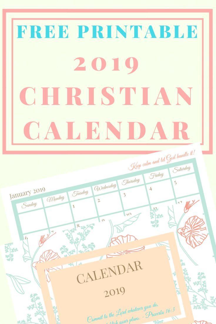 2019 calendar monthly printable