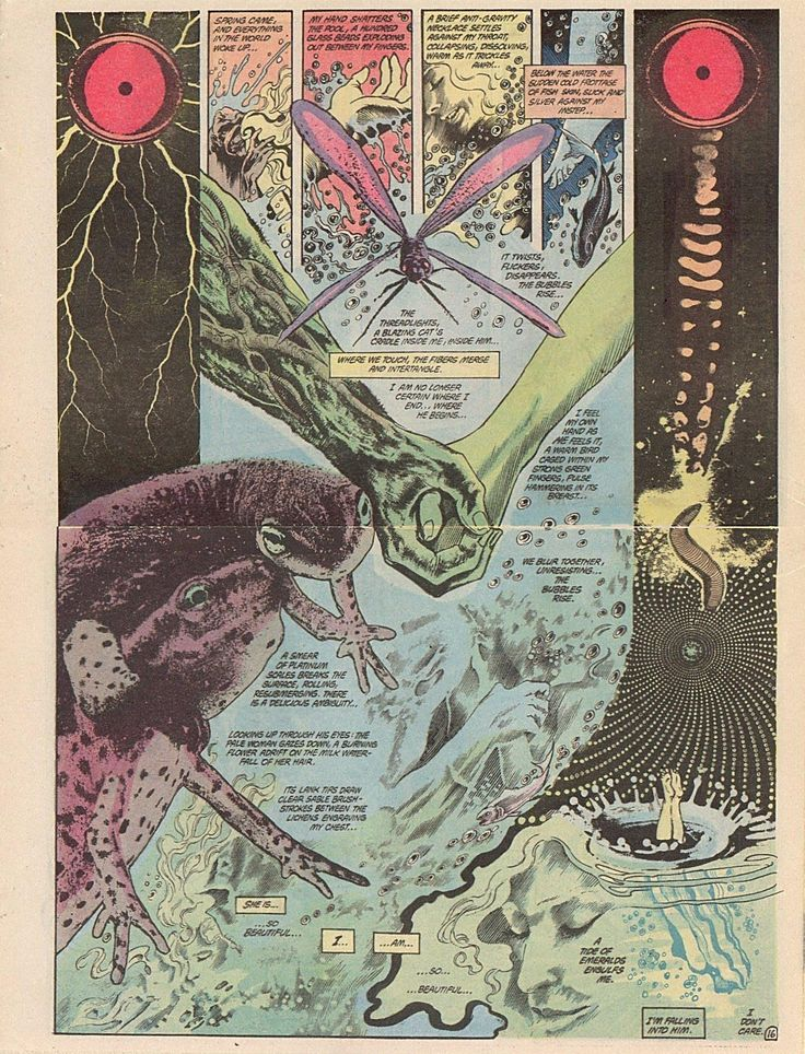 Swamp Thing #34, by Moore & Bissette - Rite of Spring sex scene 02